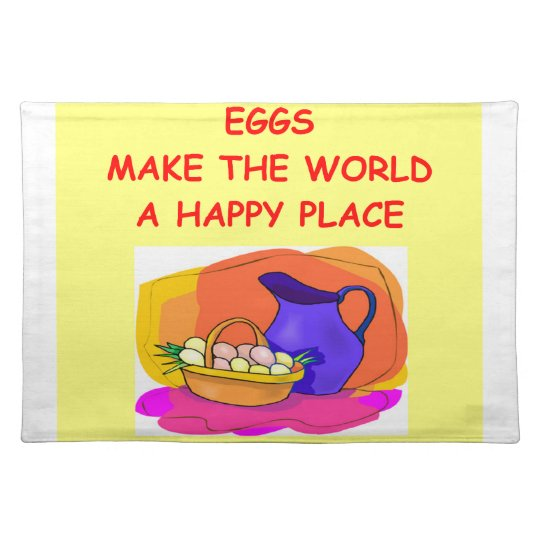 eggs placemat