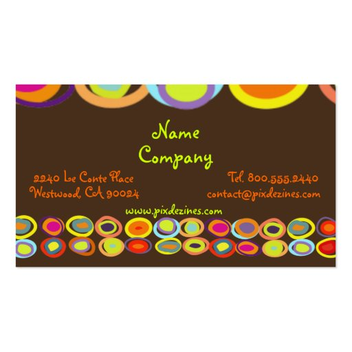 Eggs Profile Cards, colorful organic shapes Business Cards