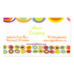 Eggs Profile Cards, colorful organic shapes Business Card Template