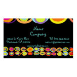 Eggs Profile Cards, colorful organic shapes Business Card Templates