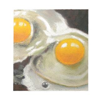 Eggs Still Life, Oil Pastel, Raw Egg Yolks Note Pad