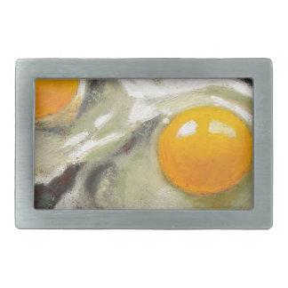 Eggs Still Life, Oil Pastel, Raw Egg Yolks Rectangular Belt Buckle