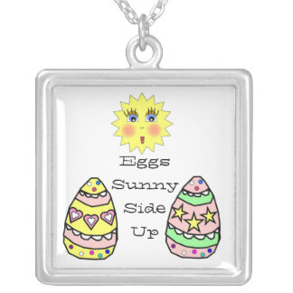 Eggs Sunny Side Up Necklace