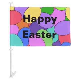 Eggscellant Easter Eggs Car Flag