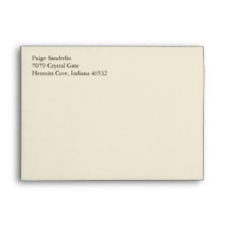 Eggshell A7 5x7 Custom Pre-addressed Envelopes