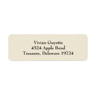 Eggshell Beige Simple Plain Return Address Labels