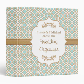 Eggshell Blue and Gold Moroccan Wedding Planner Binder