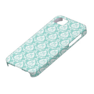 Eggshell Blue Damask iPhone SE/5/5s Case