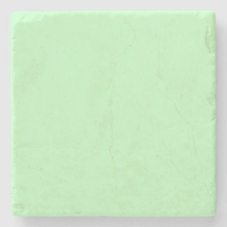 Eggshell Blue Green Pastel Color Background Stone Coaster