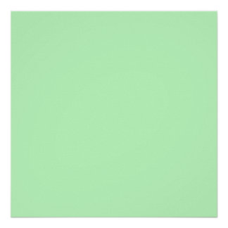 Eggshell Blue Green Pastel Color Background Poster