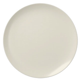 Eggshell-Colored Plate