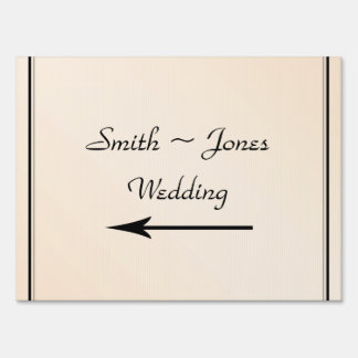 Eggshell Elegance Wedding Direction Sign
