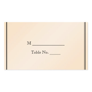 Eggshell Elegance Wedding Place Cards Business Card