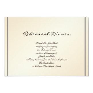 Eggshell Elegance Wedding Rehearsal Card