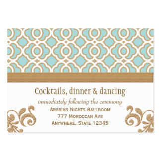 Eggshell Gold Moroccan Reception Enclosure Cards Large Business Card