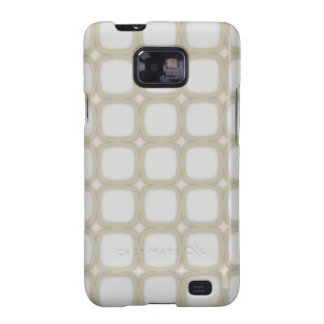 Eggshell Retro Rounded Squares Galaxy SII Cases