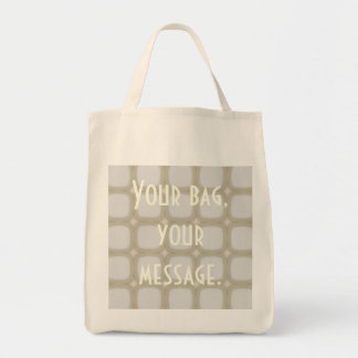 Eggshell Retro Rounded Squares Tote Bag