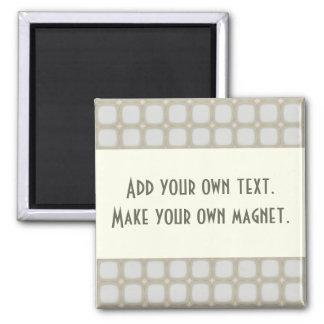 Eggshell Retro Squares Stars Magnets