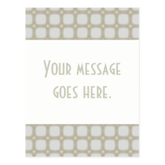 Eggshell Retro Squares Stars Postcard