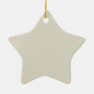 Eggshell Star Dust Christmas Ornaments