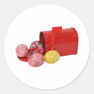 EggsMailbox051409 Pegatinas Redondas
