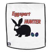 Eggspert Egg Hunter Easter Boys Girls Cool Bunny Backpack
