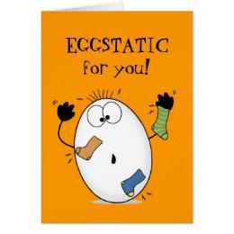 Eggstatic-Ecstatic Egg Card