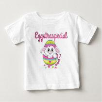Eggstraspeical Bunny Easter Baby Girl Shirt Spring