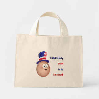EGGStremely proud to be American! Mini Tote Bag