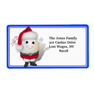Eggstrordinary Christmas Custom Shipping Label