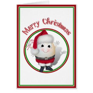 Eggstrordinary Santa Christmas Egg Card