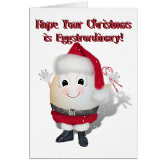 Eggstrordinary Santa Christmas Egg Greeting Cards