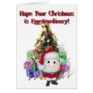 Eggstrordinary Santa Christmas Egg Greeting Card