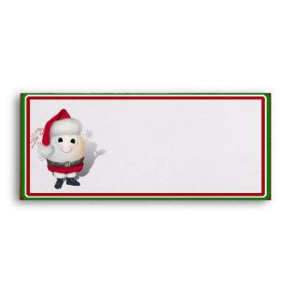 Eggstrordinary Santa Christmas Egg Envelope