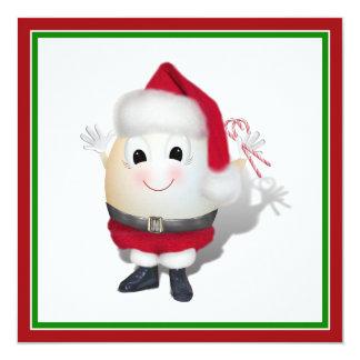Eggstrordinary Santa Christmas Egg Personalized Invitation