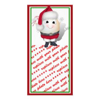 Eggstrordinary Santa Christmas Egg Photo Cards