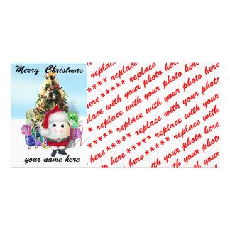 Eggstrordinary Santa Christmas Egg Photo Card Template