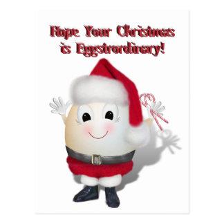 Eggstrordinary Santa Christmas Egg Post Card