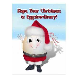 Eggstrordinary Santa Christmas Egg Post Cards
