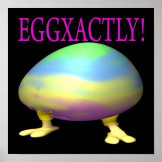 Eggxactly Poster