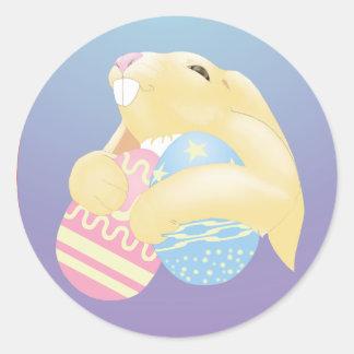 Eggy Bunny Classic Round Sticker