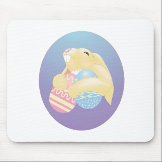 Eggy Bunny Mouse Pad