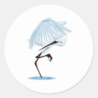 Eggy Egret Classic Round Sticker