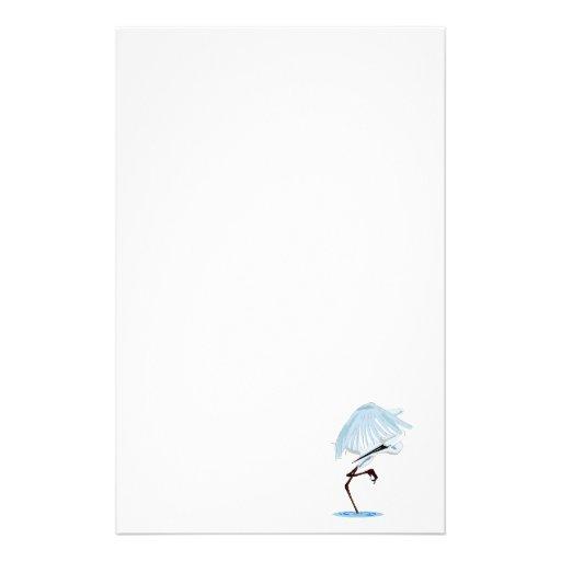 Eggy Egret Custom Stationery