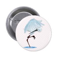 Eggy Egret Pinback Button