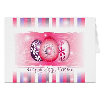 Eggy feliz Pascua que desea tarjetas