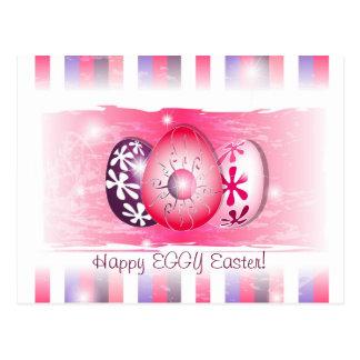 Eggy feliz Pascua que desea tarjetas Postales