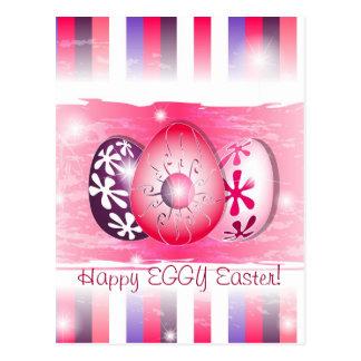 Eggy feliz Pascua que desea tarjetas Tarjeta Postal