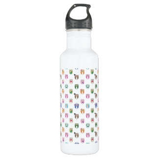 Eggy Owls - orderly ver - Stainless Steel Water Bottle