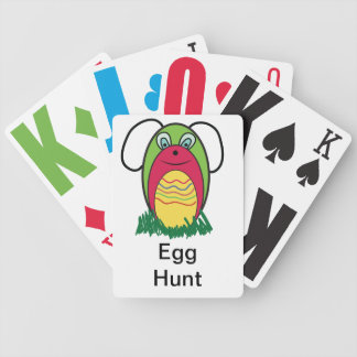 Eggy the Bunny Bicycle Playing Cards